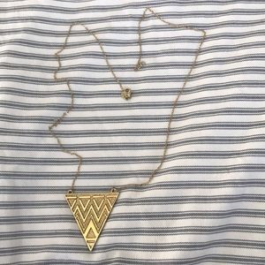 House of Harlow gold pendant